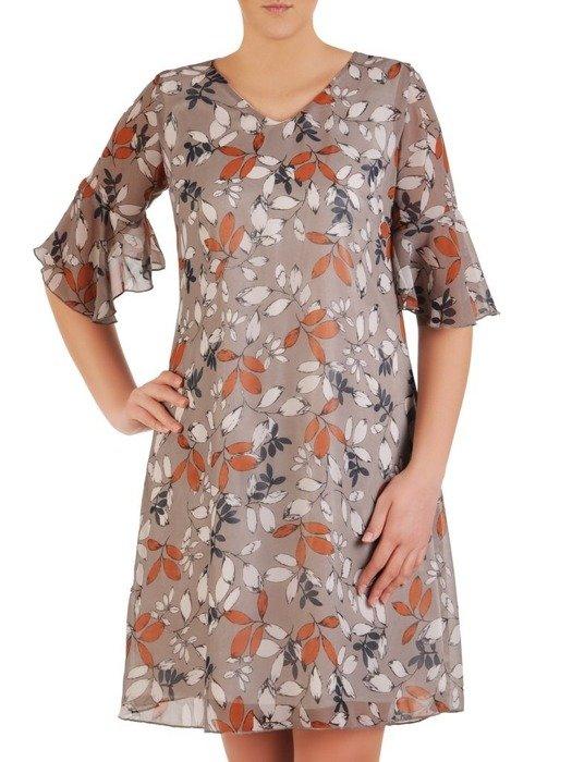 Sukienka w kwiaty, zwiewna kreacja na wiosnę 25632