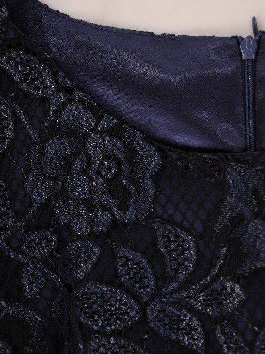 Sukienka wieczorowa, elegancka kreacja z koronki 26016