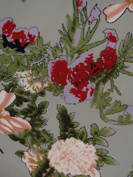 Sukienka wiosenna, prosta kreacja w kwiaty 20729.