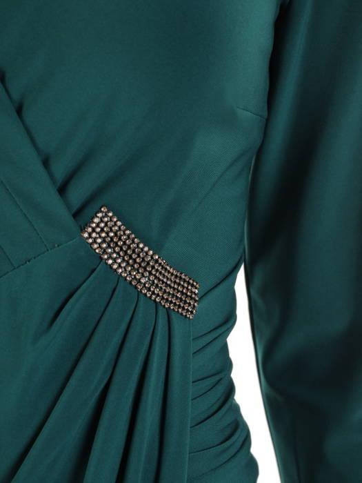Sukienka wizytowa z ozdobnymi, wyszczuplającymi zaszewkami 31206
