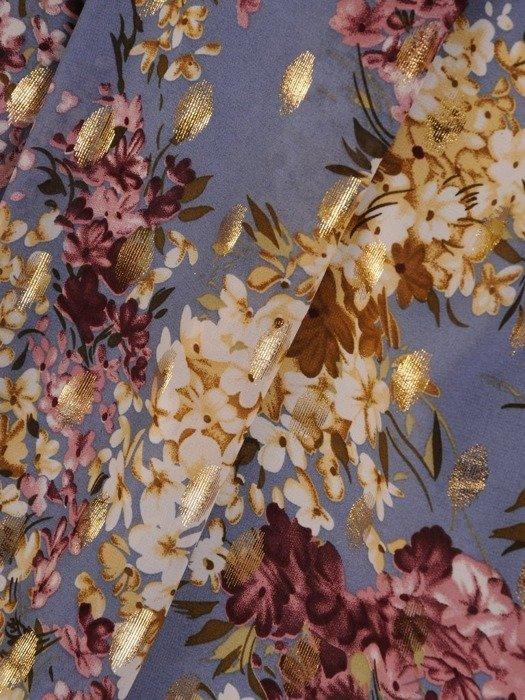 Sukienka wizytowa, zwiewna kreacja w kwiaty 25910