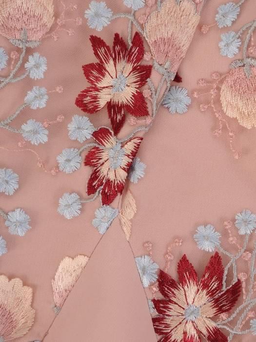 Sukienka wyjściowa, elegancka kreacja w pudrowym kolorze 26418