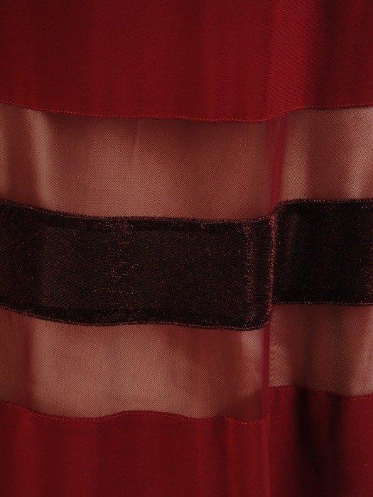 Sukienka wyjściowa, rozkloszowana kreacja w bordowym kolorze 25978