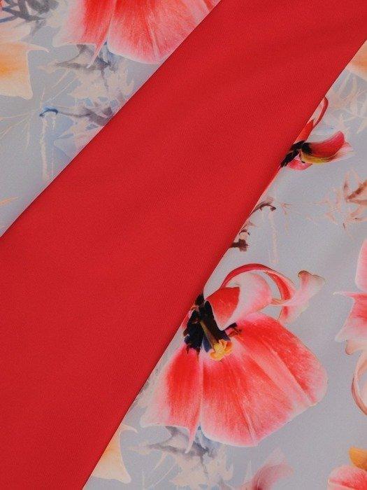Sukienka wyjściowa, wyszczuplająca kreacja z łączonych tkanin 25871