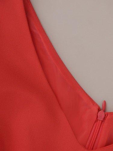 Sukienka wyszczuplająca 2w1 15850, prosta kreacja z luźną, szyfonową narzutką.