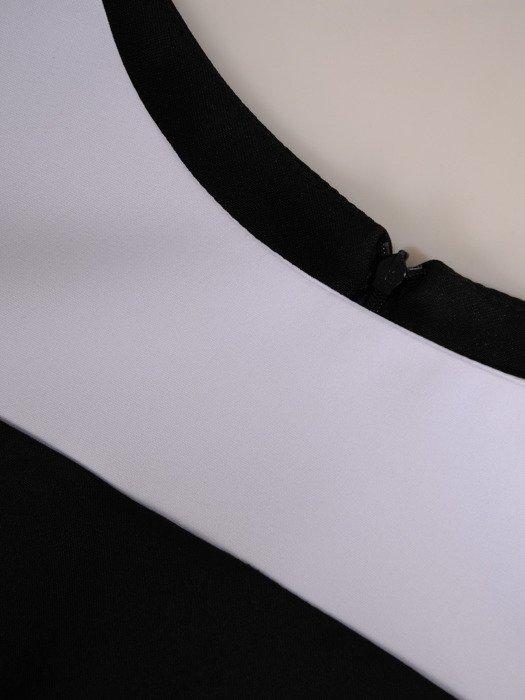 Sukienka wyszczuplająca, geometryczna kreacja z tkaniny 19911.