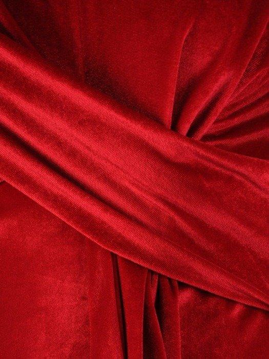 Sukienka z aksamitu, kreacja z wyszczuplającą zakładką 24280