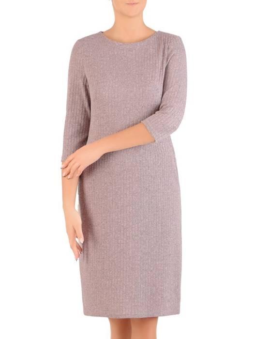 Sukienka z dzianiny, prosta kreacja na jesień 27568