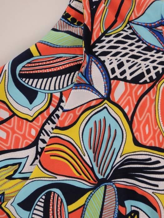 Sukienka z dzianiny, prosta kreacja w oryginalnym wzorze 26397