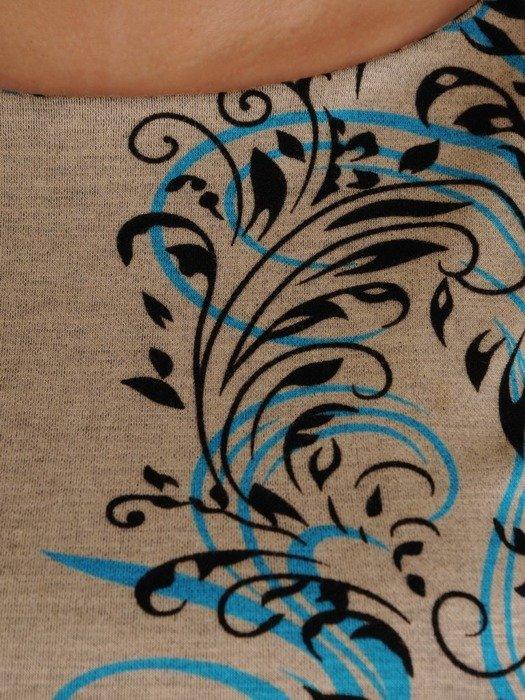Sukienka z dzianiny, wyszczuplająca kreacja w prostym fasonie z paskiem 24790