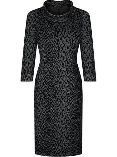 Sukienka z kominem Krystyna VI, jesienna kreacja z bawełny.