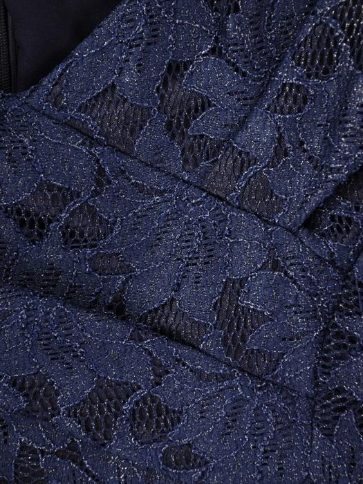 Sukienka z koronki, wizytowa kreacja z ozdobnym kołnierzem 21773.