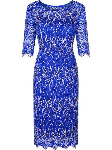 Sukienka z modnej koronki Kasandra II, widowiskowa kreacja na przyjęcie weselne.