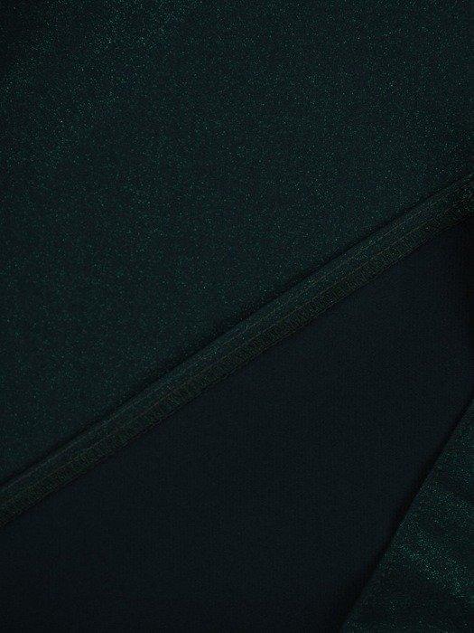 Sukienka z odkrytymi ramionami, kreacja z ozdobną falbaną 22595