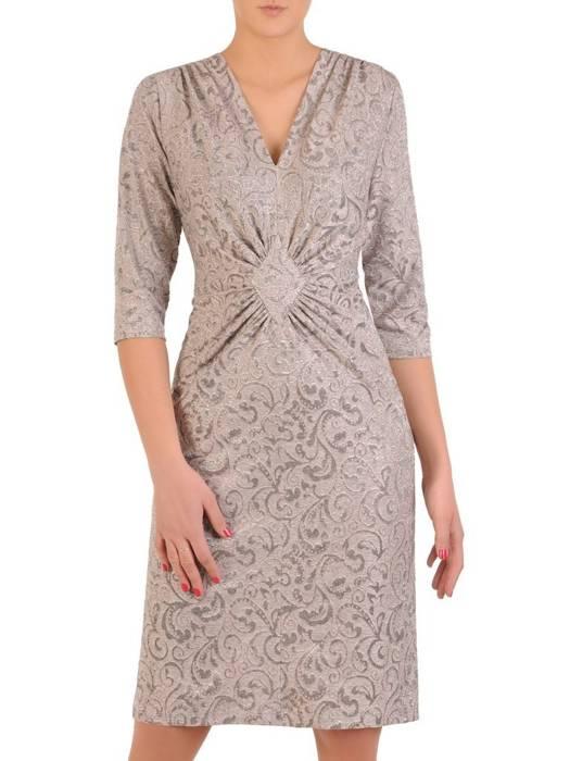Sukienka z ozdobnym marszczeniem w talii 29095