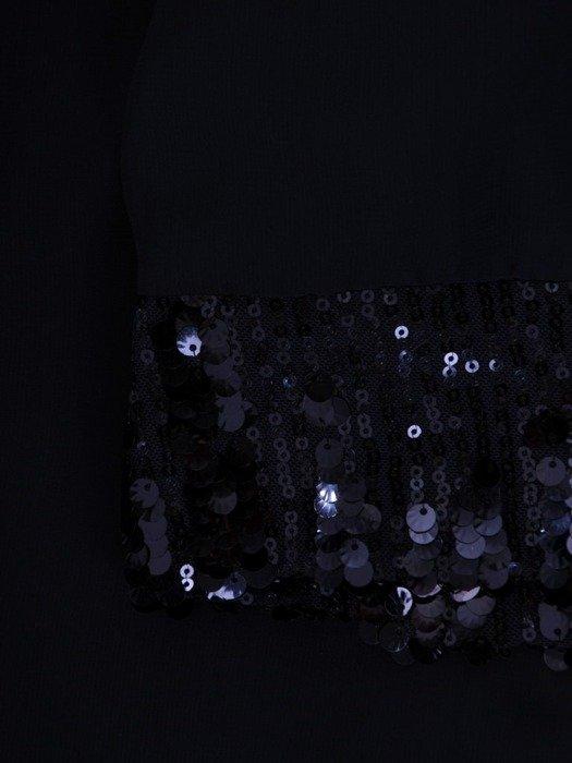 Sukienka z szyfonową narzutką, wyszczuplająca kreacja z cekinami 24587
