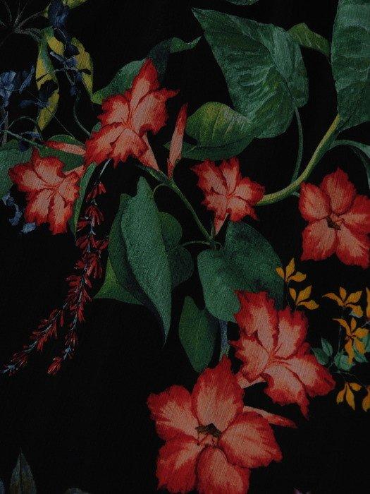 Sukienka z szyfonu 17704, zwiewna kreacja w jesiennej kolorystyce.