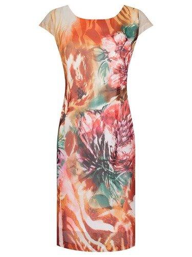 Sukienka z szyfonu Kristin XII, zwiewna kreacja na lato.