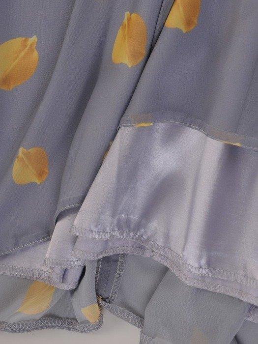 Sukienka z szyfonu, zwiewna kreacja koktajlowa 25578