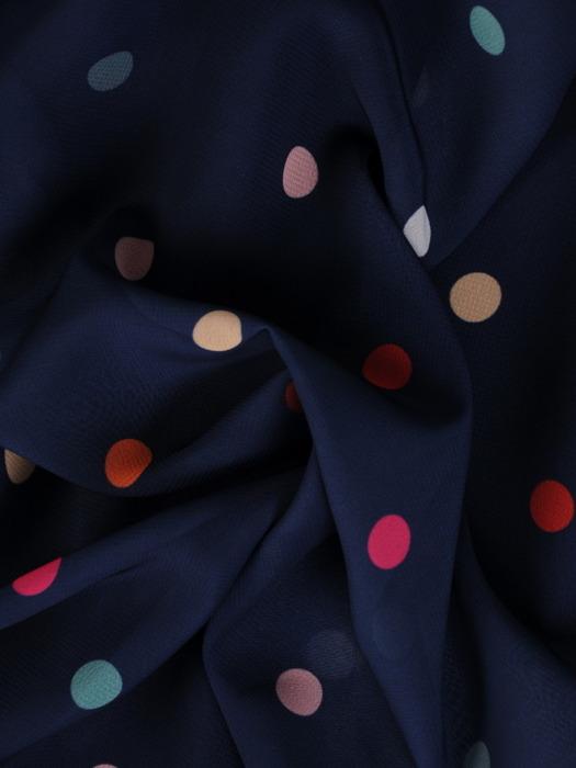 Sukienka z szyfonu, zwiewna kreacja w groszki 20809.