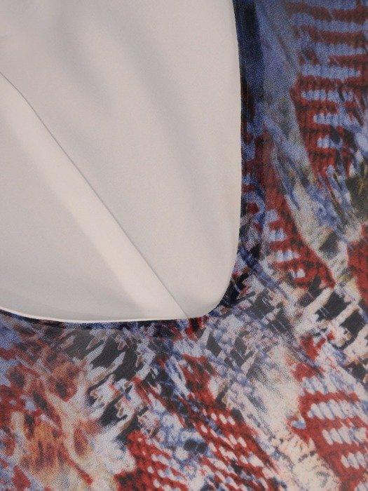 Sukienka z szyfonu, zwiewna kreacja z falbanami 26079