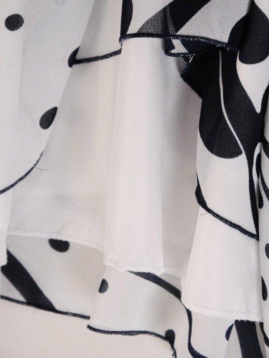 Sukienka z szyfonu, zwiewna kreacja z falbanami 26726