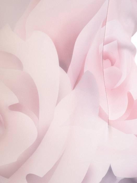 Sukienka z tkaniny, wiosenna kreacja w kwiaty 29606