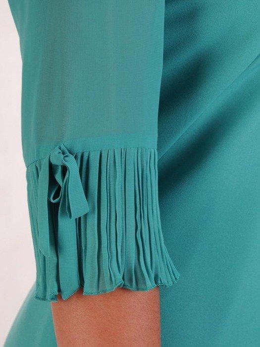 Szmaragdowa kreacja, zwiewna sukienka na lato 25980