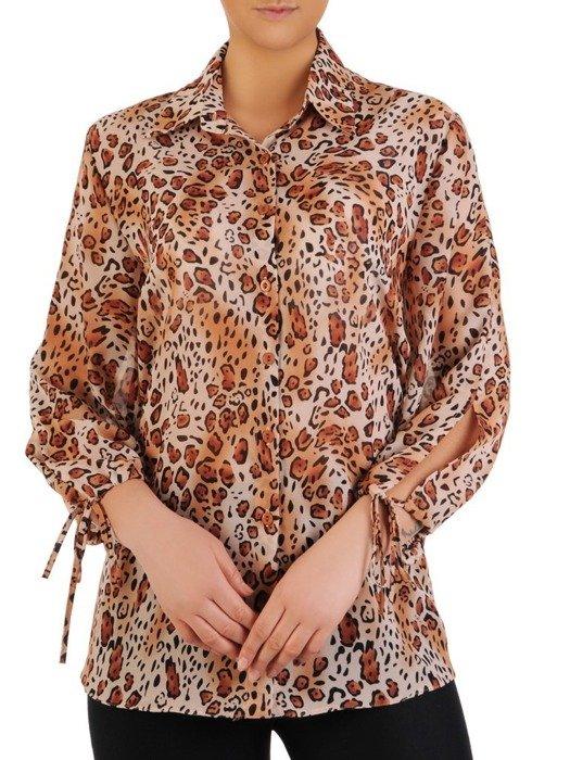 Szyfonowa bluzka w modnym, zwierzęcym wzorze 24459
