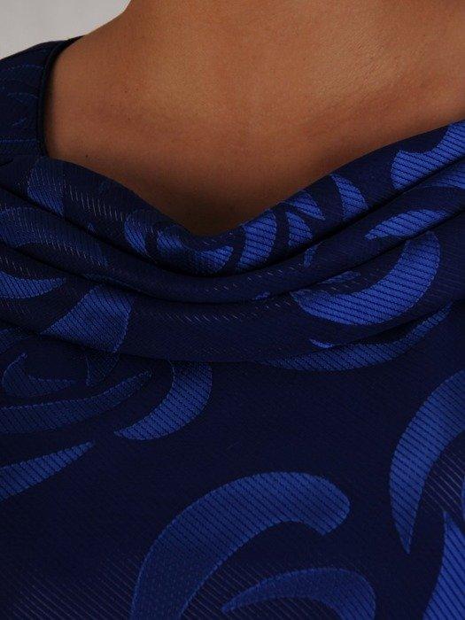 Szyfonowa sukienka o długości maxi, kreacja z ozdobnym dekoltem 24726