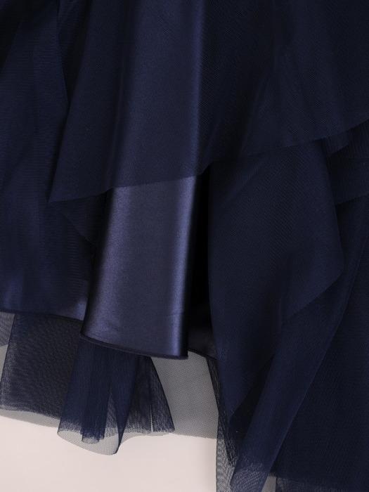 Szyfonowa sukienka z koronkowym gorsetem, rozkloszowana kreacja na wieczór 21326