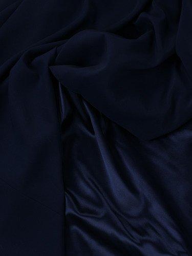 Szyfonowa suknia Aurelia V, granatowa kreacja z rozkloszowanym dołem.