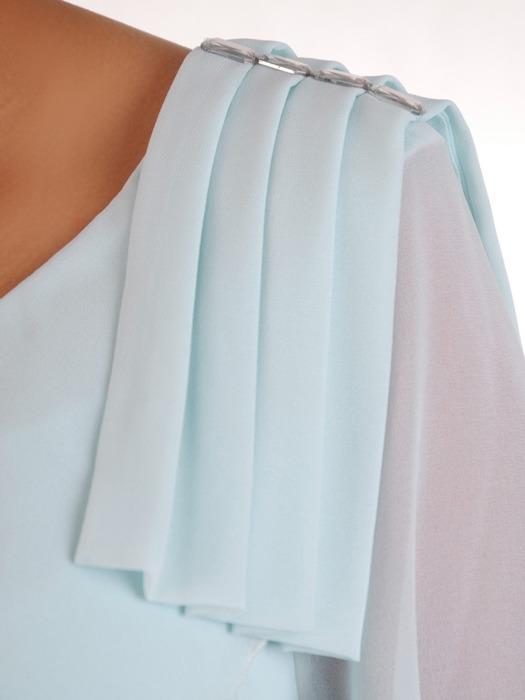 Szyfonowa, wielowarstwowa sukienka z falbanami 21177