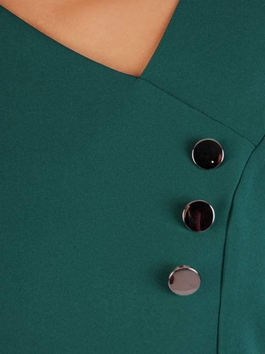 Szyfonowa zielona tunika z falbanami 27283