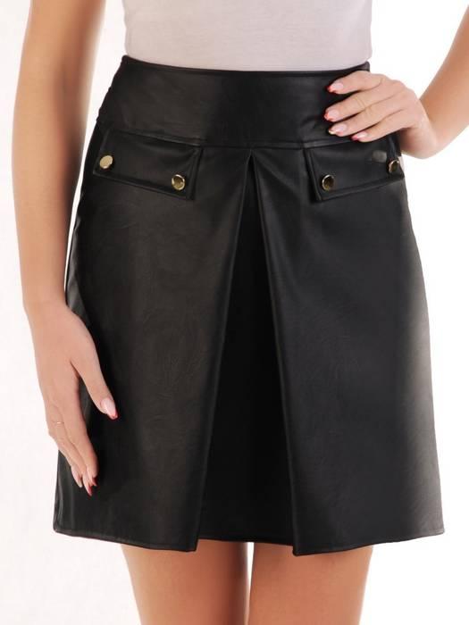 Szykowna, czarna spódnica z ekoskóry 27975
