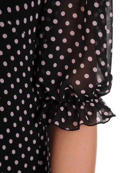 Trapezowa sukienka z szyfonu, zwiewna kreacja na wiosnę 24814