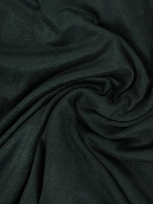 Trapezowa sukienka z zamszowej tkaniny, zielona kreacja z falbanami 23165