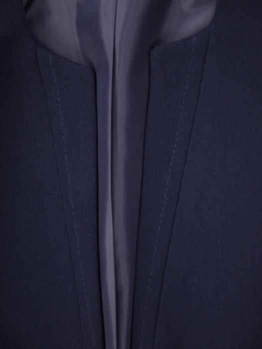 Trzyczęściowy komplet damski, granatowa garsonka z koronkową bluzką 30453