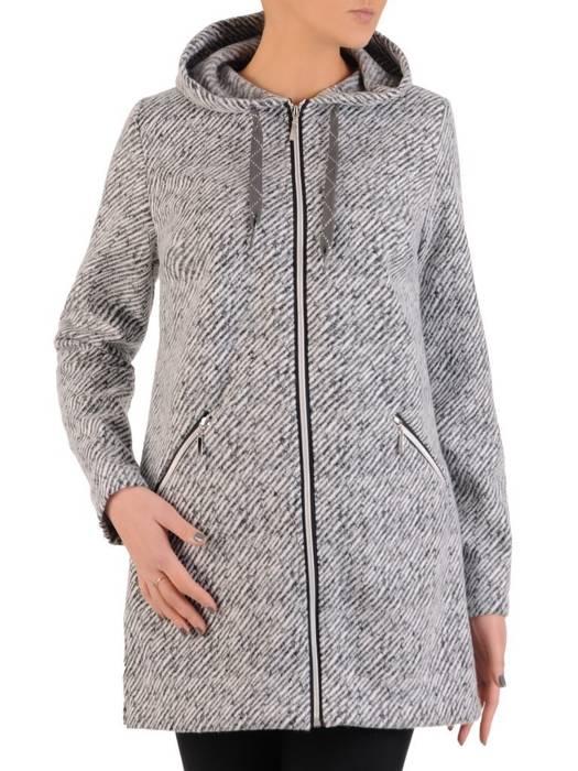 Wełniana kurtka z metalowym suwakiem 28777