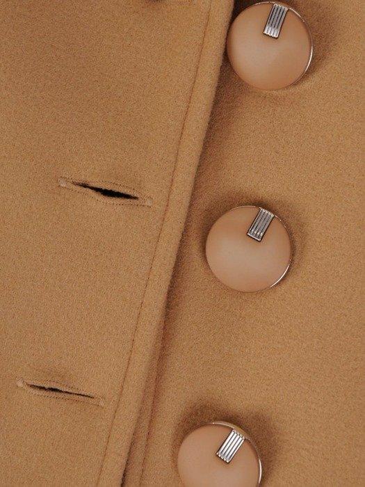 Wełniane ponczo z ozdobnymi guzikami 25299