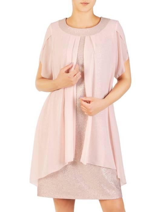 Wieczorowa sukienka w fasonie maskującym niedoskonałości 30438