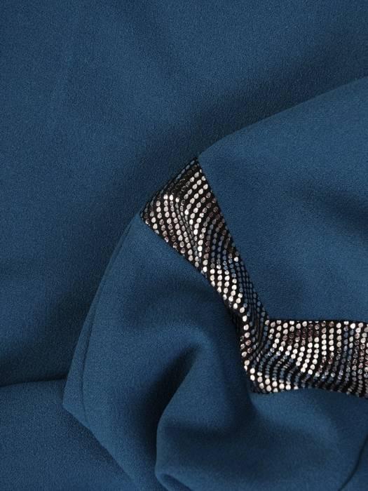 Wizytowa sukienka damska, kreacja ze srebrnymi wstawkami 27212