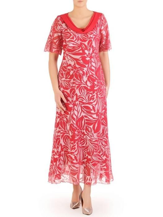"""Wyjściowa sukienka z dekoltem typu """"woda"""" 29437"""