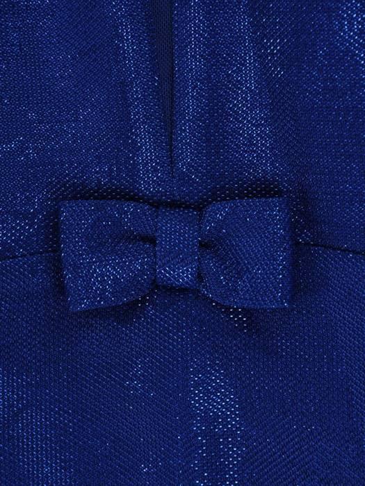 Wyjściowa sukienka z ozdobną kokardką, podkreślająca dekolt 26921