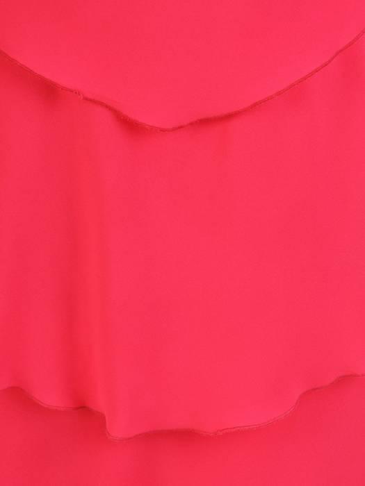 Wyjściowa sukienka z szyfonu, zwiewna kreacja z falbanami 30101