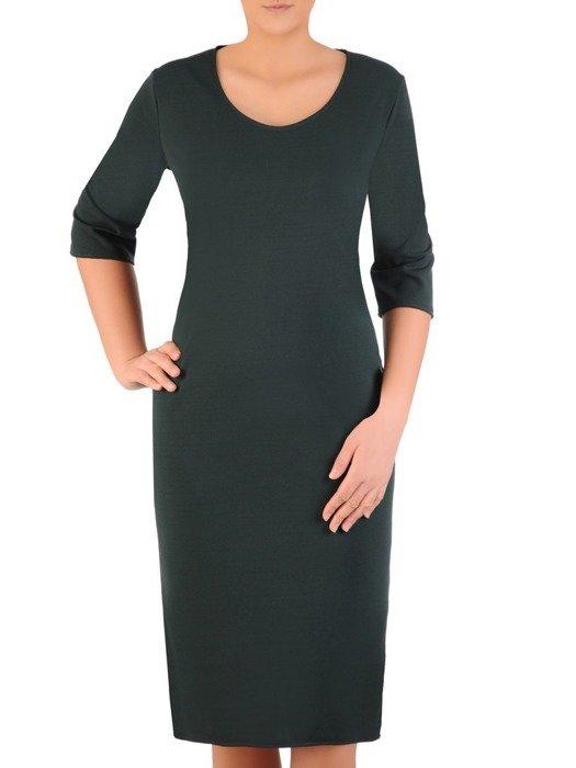 Wyszczuplająca sukienka z bocznymi kieszeniami 22791