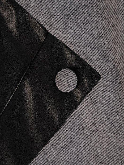 Wyszczuplająca sukienka z wełny, kreacja z kontrastowymi wstawkami 23405