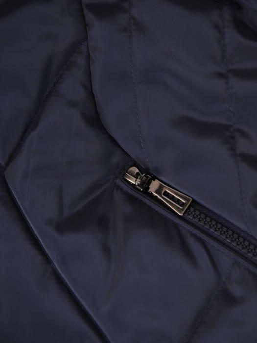Wyszczuplający płaszcz z pikowanej tkaniny z kapturem 30710