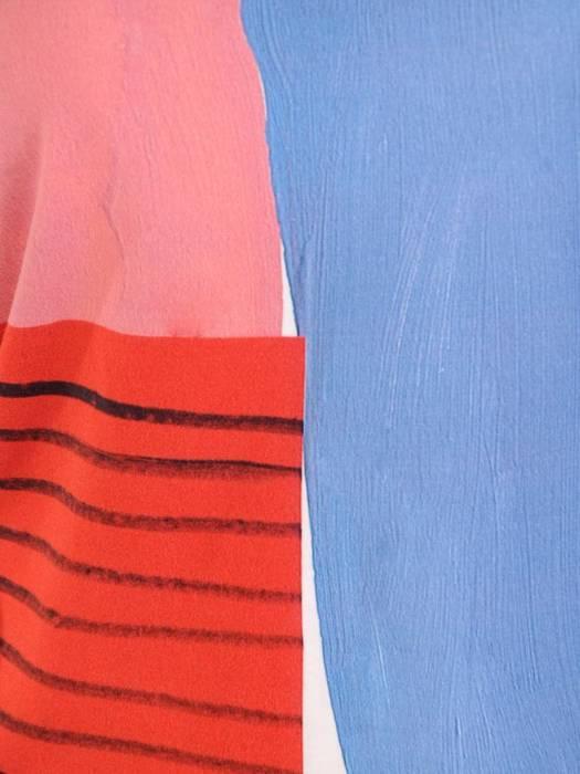 Wzorzysta bluzka z dzianiny bawełnianej 30055
