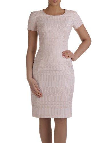 Żakardowa sukienka w geometryczny deseń Mirabella II